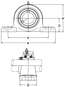 FKG UCP201-8 Pillow Block Mounted Bearing 1//2 inch Inside Diameter